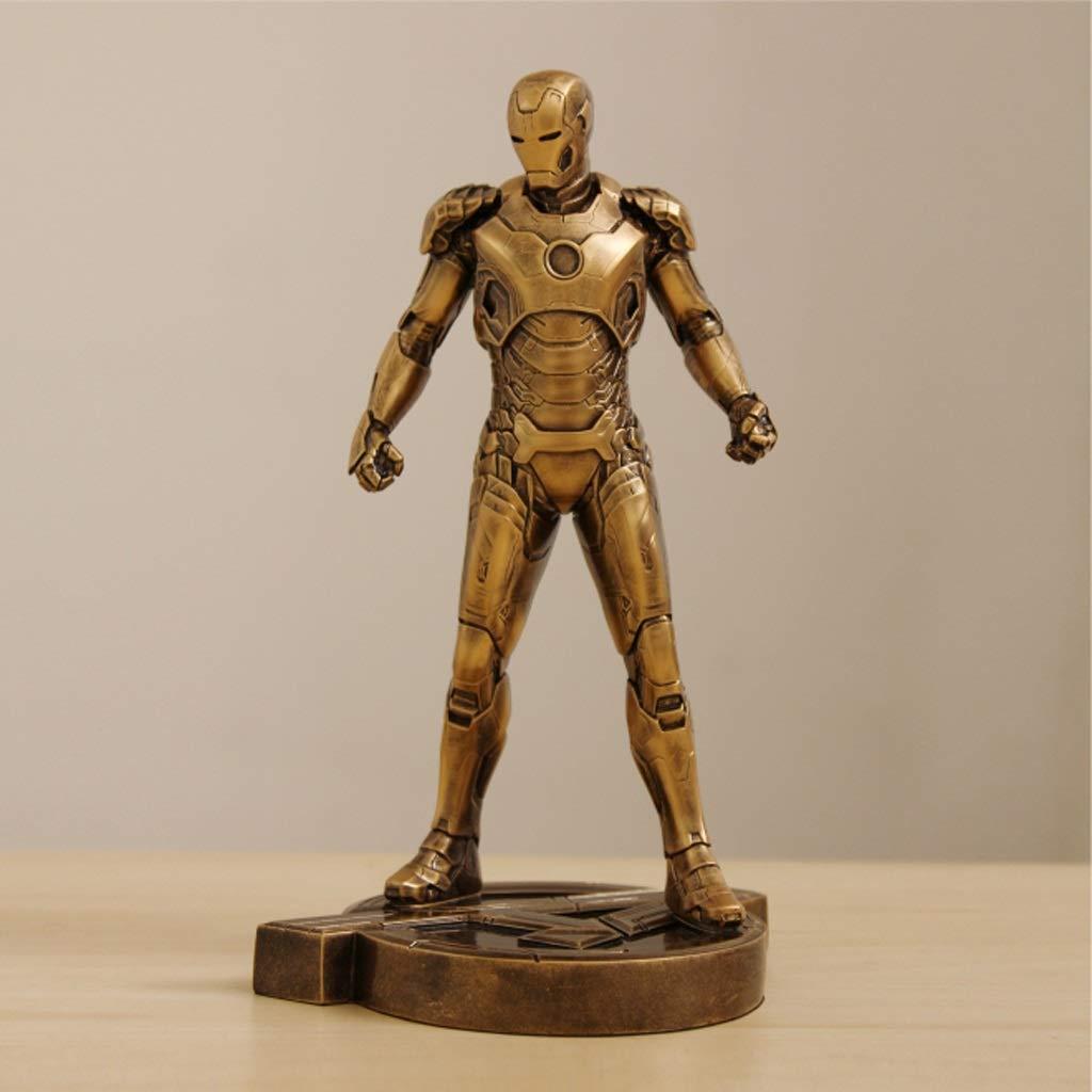 DNSJB Iron Man Qiu Full Body Imitation Copper MK43 Model Statue Decoration Birthday Holiday New Year Gift