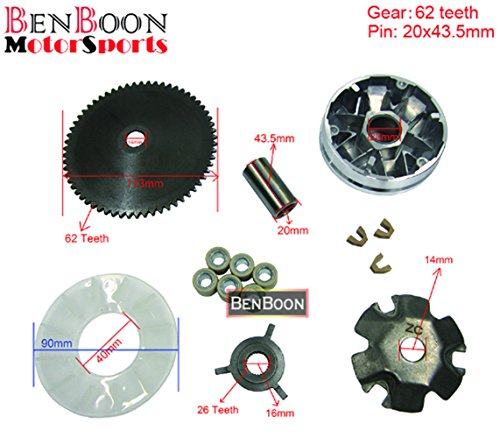 GY6 50cc Engine Parts Variator Kit 139QMB Chinese Scooter Parts ATV Parts Znen Baotian Taotao Icebear Romet (Galaxy Glow Mini Golf)