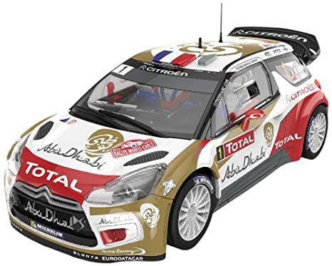 Scalextric Citroën DS WRC Abu Dhabi coche slot Educa Borrás AS