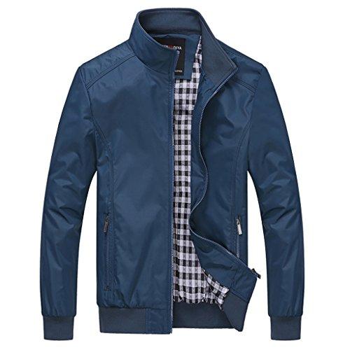BINGKA Mens Casual Outdoor Sportswear Lightweight Bomber Jackets and Coats Plus Size (Season Bomber Jacket)