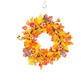 Yiwa Creative Autumn Wreath Handmade Home Hotel Decoration Hanging Ornament Christmas Wreath Without Light String