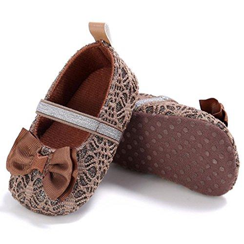 Tefamore Zapatos bebe de bajos de deporte de antideslizante de solo suave de moda invierno otoño Marrón