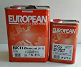EGC11 Automotive European Urethane ClearCoat 4:1 Ratio Gallon Restoration car Paint