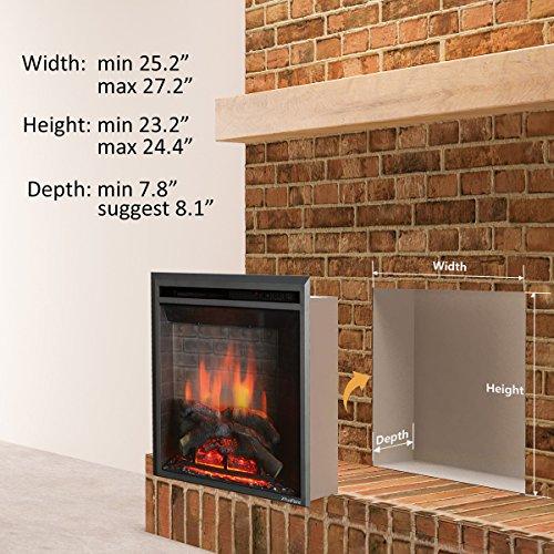 "PuraFlame 26"" Fireplace Control, 750/1500W,"