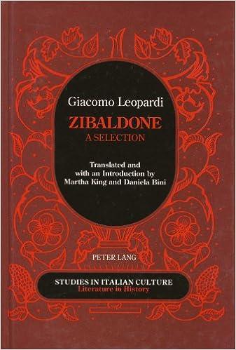 Zibaldone (Studies in Italian Culture)