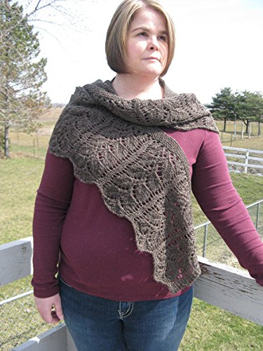 Hand knit Lace Alpaca shawl