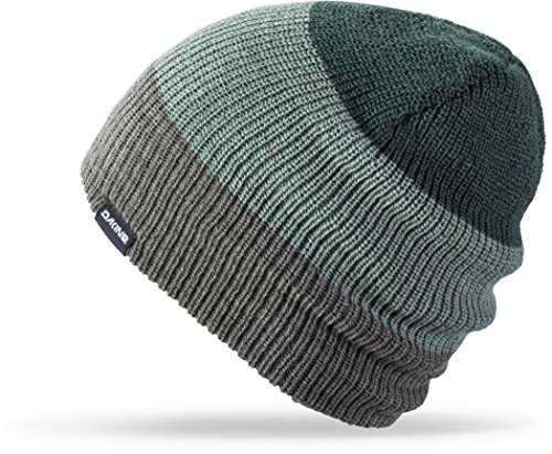Dakine Lester Beanie, Charcoal/ Balsam green, One (Dakine Winter Hat)