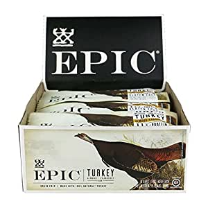 Epic All Natural Meat Bar, 100% Natural, Turkey, Almond & Cranberry, 1.5 ounce bar 12 Count