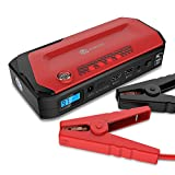 #6: iClever 600A Peak 18000mAh Portable Jump Starter (up to 6.5L gas or 5.2L diesel Engine) Auto Battery Booster, Power Bank and Phone Charger with Dual USB Ports, Car Charger and AC Adapter