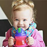 Nuby Two-Handle Flip N' Sip Straw Cup, 8 Ounce, Colors May Vary