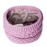 Children Winter Warm Scarf Thickened Wool Collar Scarves Neckerchief,Pink