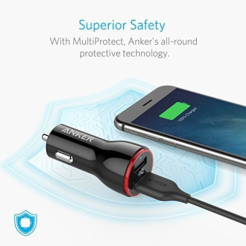Anker 24W Dual USB Car Charger PowerDrive 2 + 3ft Micro USB to USB Cable Combo for Galaxy S7/S6/Edge/Plus, Note 5/4, LG, Nexus, HTC and More, Black by Anker (Image #5)