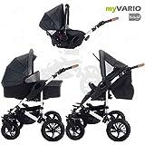 Bebebi | modelo myVARIO | 3 en 1 Cochecito de niño y silla de paseo | Ruedas de aire - myStar