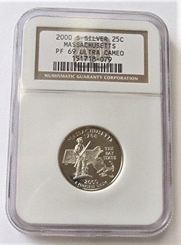 2000 S Massachusetts Silver State Quarter PF69 (Massachusetts State Quarter Coin)