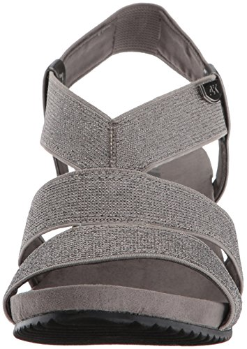 Sandal Pewter Wedge Fabric AK Anne Women's Klein Cabrini Sport YwYqgC6R