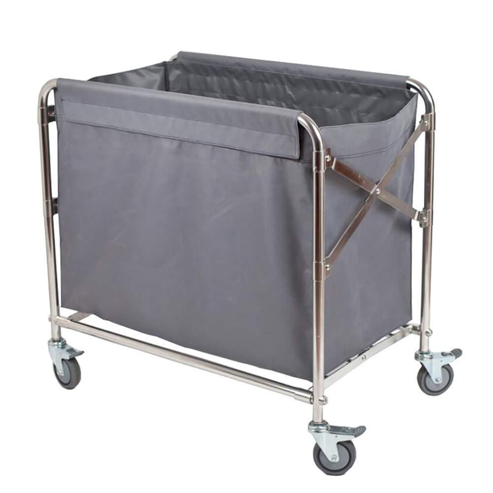 普遍的なブレーキ車輪が付いている仕事の家のカート用具の折るロビーのリネンカート、ホテルの洗濯の選別機の圧延のカート B07SR574VT