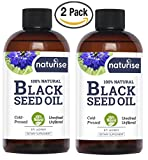 2-Pack - Naturise Black Seed Oil - Cold Pressed Black Cumin Seed Oil Pure from The Nigella Sativa - Source of Omega 3 6 9, Super Antioxidant for Immune Boost, Joints, Skin & Hair, 8 oz