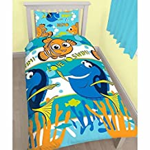 Disney Finding Nemo Official Childrens/Kids Dory Single Bedding Set (Twin) (Multicolored)