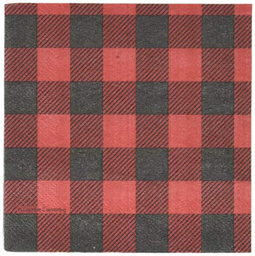 Creative Converting Buffalo Plaid Beverage Napkins Party Supplies, Multicolor]()