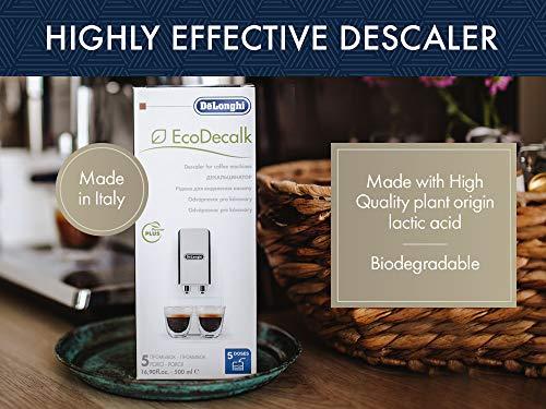 De'Longhi EcoDecalk Descaler, Eco-Friendly Universal Descaling Solution for Coffee & Espresso Machines, 16.90 oz (5 uses)