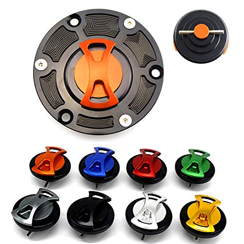 Motorcycle CNC Aluminum Keyless Twist off Gas Tank Cap Cover For Triumph Street Triple 675/R All Years/Tiger 1050 2006+ / Tiger 800/XC All Years / TT600 All Years/Rocket III All Years