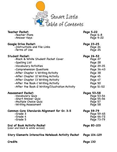 Workbook customizable handwriting worksheets : Amazon.com : Stuart Little Novel Study Unit CD : Teachers ...