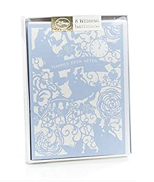 pack of 8 cinderella wedding invitations with envelopes amazon co
