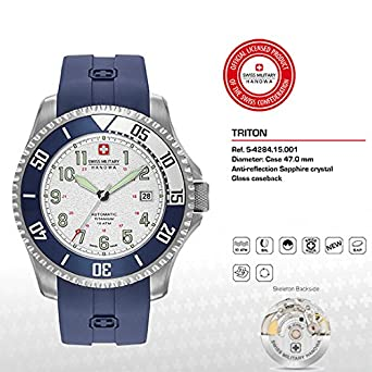 Image Unavailable. Image not available for. Color  Hanowa Swiss Military  TRITON 05-4284.15.001 ... f2c64d609b7