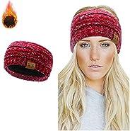 WharFlag Womens Beanie Hats - Women Winter Warm Headband Hat Stretchy Knitted Headwear Soft Horsetail Messy Bu