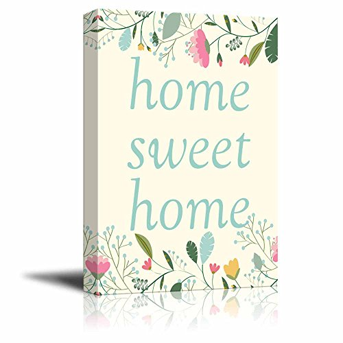 Print Art Home Sweet Home Wall Decor with Flowers Quotes ation