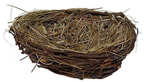 BD Crafts 4'' twig and grass natural bird nest
