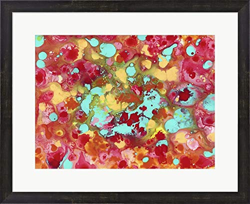 The Cow Jumped Over The Moon Abstract by Amy Vangsgard Framed Art Print Wall Picture, Espresso Brown Frame, 26 x 21 inches