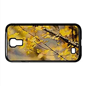 October Yellow Leaves Watercolor style Cover Samsung Galaxy S4 I9500 Case (Autumn Watercolor style Cover Samsung Galaxy S4 I9500 Case)