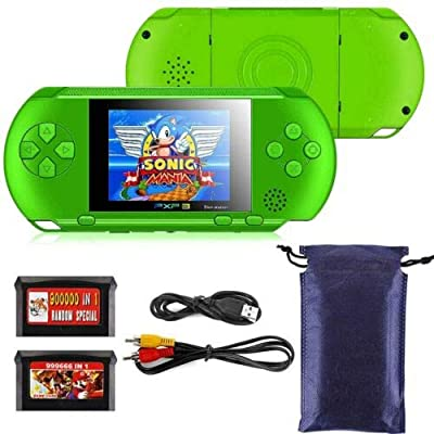 RONSHIN PXP3 Portable Handheld Built-in Video Game Gaming Console Player Retro Games Green: Electronics