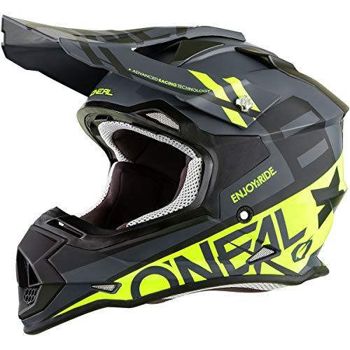 ONeal Unisex-Adult Off-Road Style 2SERIES Helmet SPYDE Black/hi-viz L, Large