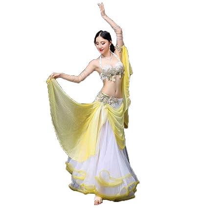 KTYXDE Traje de Danza del Vientre para Mujer Adulta Danza ...