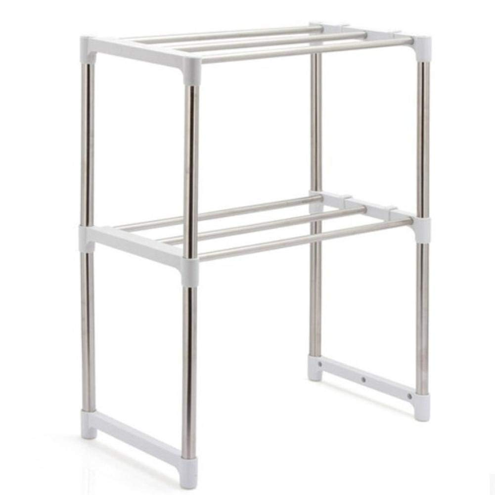 GOP Store Multifunctional Stainless Steel Rack for Kitchen Microwave Oven Storage