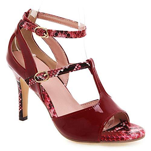 (Vimisaoi Women's Stiletto High Heels Sandals, Elegant T-Strap Double Buckle D'Orsay Dress Ankle Booties Summer Shoes)