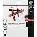 Velcro USA 91100 Industrial Strength Hook and Loop Fastener Tape Roll, 1'' x 10 ft, Black