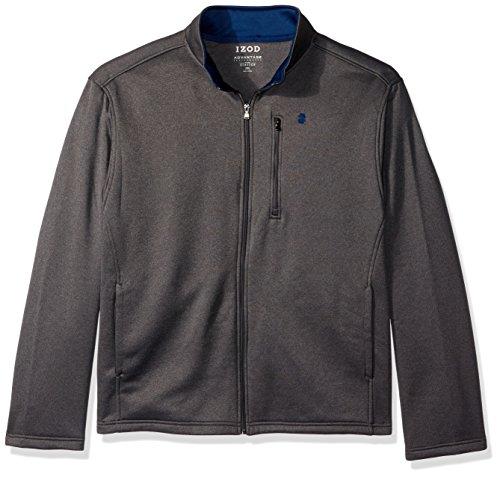 IZOD Men's Big and Tall Spectator Solid Fleece Jacket, Asphalt Heather, 4X-Large Big by IZOD