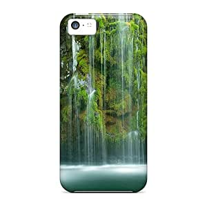 Iphone 5c Cases Covers - Slim Fit Tpu Protector Shock Absorbent Cases (mossbrae-waterfall)