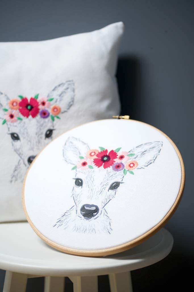 N Deer with Flowers 6 x 20cm Vervaco PN-0170263 Embroidery Kit
