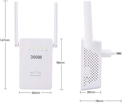 Enrutador inalámbrico 300 M de Doble Antena WiFi ...
