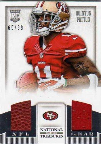 2013 Panini National Treasures NFL Gear Combos  30 Quinton Patton Game-Worn  Jersey Card Serial   d 99 ea141d2b6