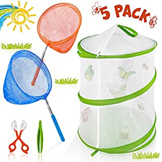 FittiDoll Insect and Butterfly Habitat Cage Large Insect Mesh Cage Kit 12 x 16 Inches Tall