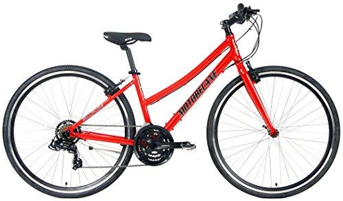 Motobecane 2018 Cafe 21 Speed Shimano Equipped Hybrid Aluminum Bicycle (Red, 15.5