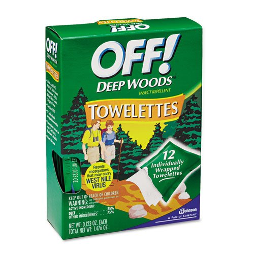 OFF! Deep Woods Towelettes - Includes 12 per case. (Wood Towelettes)