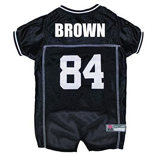 (NFLPA DOG JERSEY - ANTONIO BROWN #84 Pet Jersey - NFL PITTSBURGH STEELERS Mesh Jersey, X-Large)