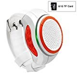 Svpro Wireless Bluetooth Speaker Watch,Convenien Smart Bracelet with MP3 Music Player,Hands-free call,Radio,Self-timer,Supporting USB,TF Card Taking Photoes (X10, white)