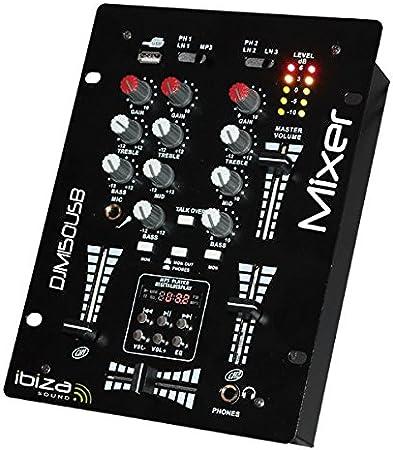 Ibiza DJM150USB-BT - Mesa de Mezclas, Color Negro: Amazon.es: Electrónica